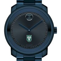 Tulane University Men's Movado BOLD Blue Ion with Bracelet