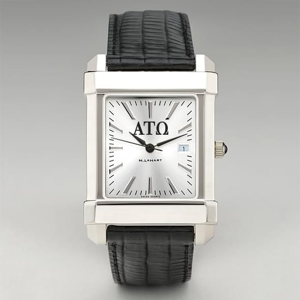 Alpha Tau Omega Men's Collegiate Watch with Leather Strap - Image 2