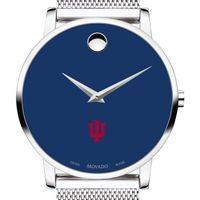 Indiana University Men's Movado Museum with Blue Dial & Mesh Bracelet