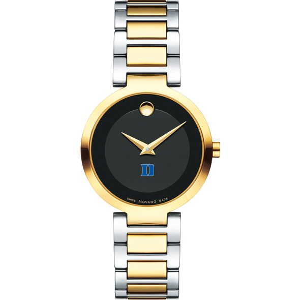 Duke University Women's Movado Two-Tone Modern Classic Museum with Bracelet - Image 2