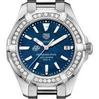 Oklahoma State Women's TAG Heuer 35mm Steel Aquaracer with Blue Dial