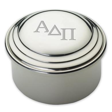 Alpha Delta Pi Pewter Keepsake Box