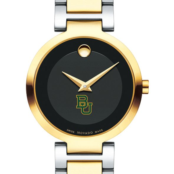 Baylor University Women's Movado Two-Tone Modern Classic Museum with Bracelet