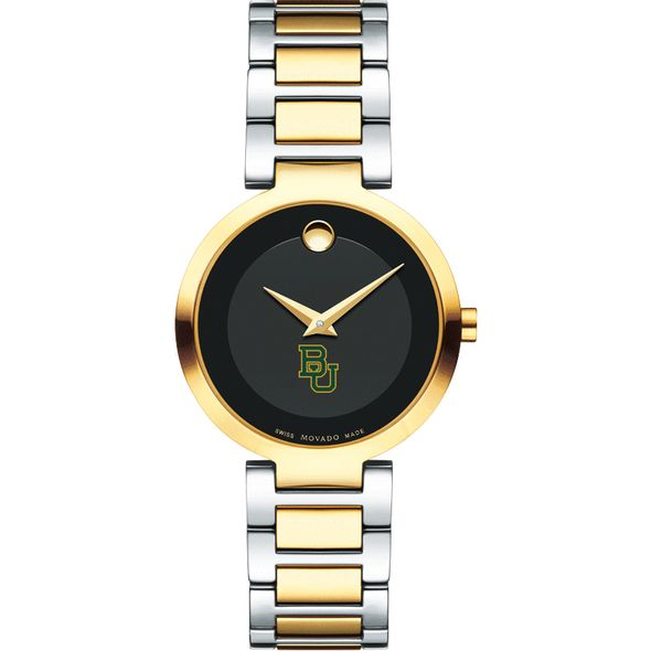 Baylor University Women's Movado Two-Tone Modern Classic Museum with Bracelet - Image 2