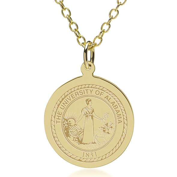 Alabama 14K Gold Pendant & Chain - Image 2