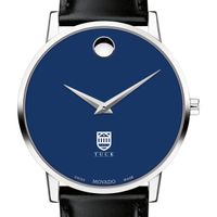 Tuck School of Business Men's Movado Museum with Blue Dial & Leather Strap