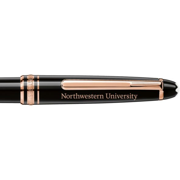 Northwestern University Montblanc Meisterstück Classique Ballpoint Pen in Red Gold - Image 2