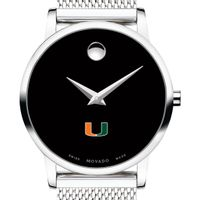 University of Miami Women's Movado Museum with Mesh Bracelet