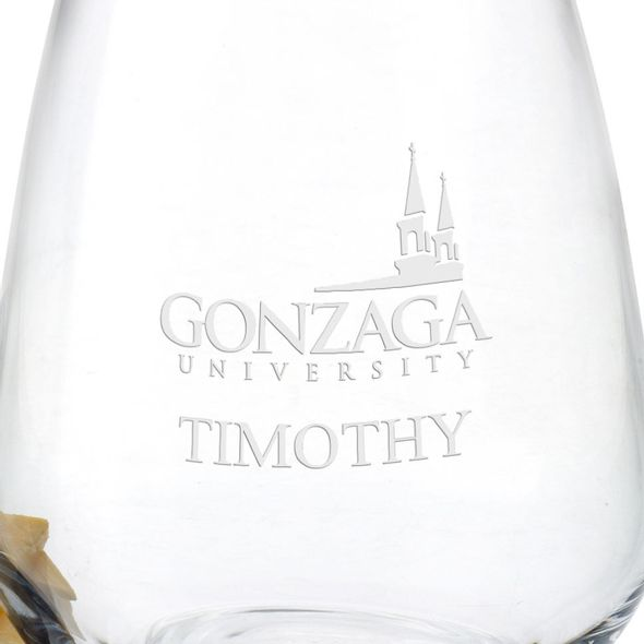 Gonzaga Stemless Wine Glasses - Set of 4 - Image 3