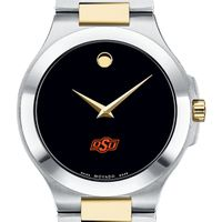Oklahoma State Men's Movado Collection Two-Tone Watch with Black Dial
