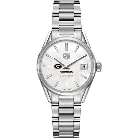 University of Georgia Women's TAG Heuer Steel Carrera with MOP Dial - Image 2