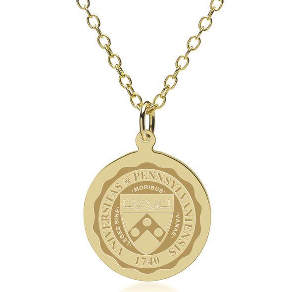 Penn 18K Gold Pendant & Chain