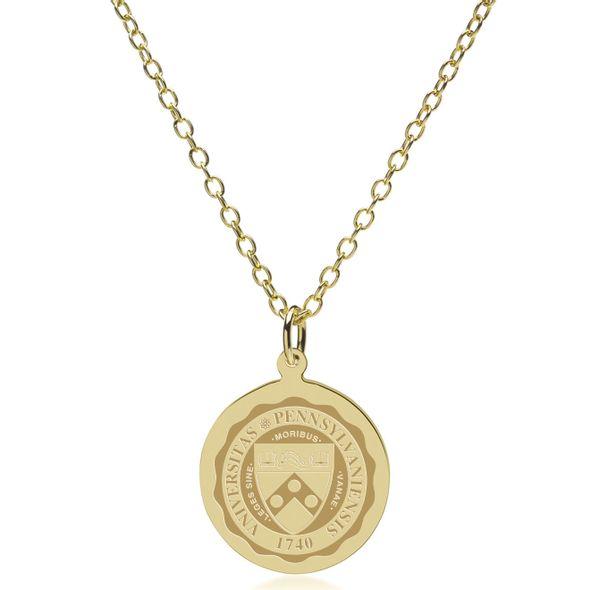 Penn 18K Gold Pendant & Chain - Image 2