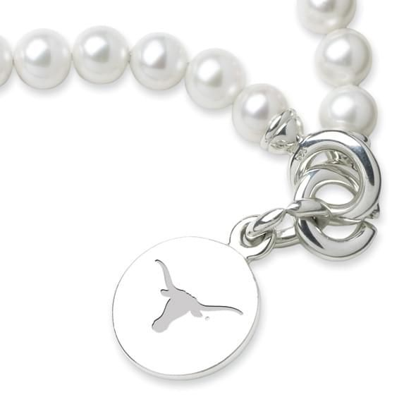 University of Texas Pearl Bracelet with Sterling Charm - Image 2