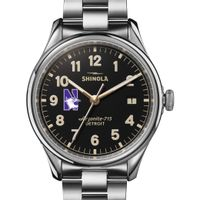Northwestern Shinola Watch, The Vinton 38mm Black Dial