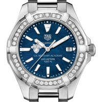 West Point Women's TAG Heuer 35mm Steel Aquaracer with Blue Dial