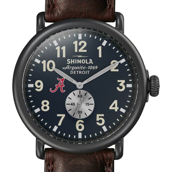 Alabama Shinola Watch, The Runwell 47mm Midnight Blue Dial - Image 1