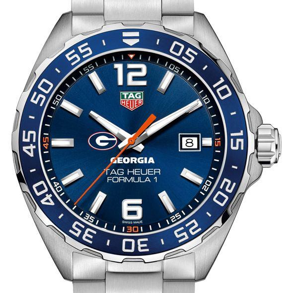 University of Georgia Men's TAG Heuer Formula 1 with Blue Dial & Bezel