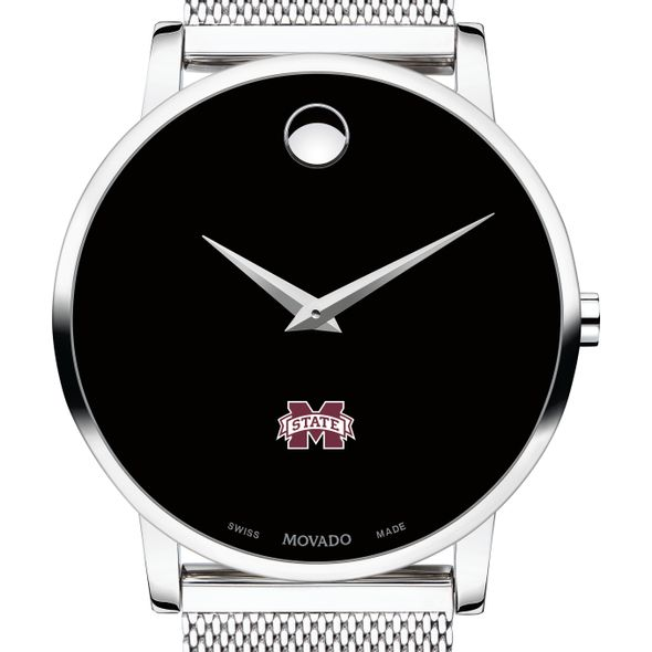 Mississippi State Men's Movado Museum with Mesh Bracelet