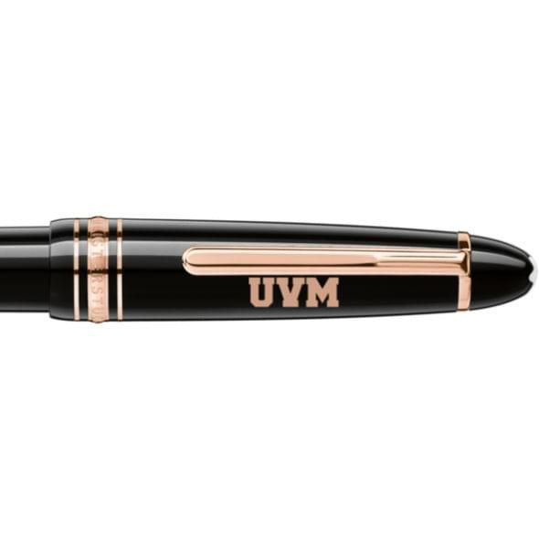 University of Vermont Montblanc Meisterstück LeGrand Ballpoint Pen in Red Gold - Image 2