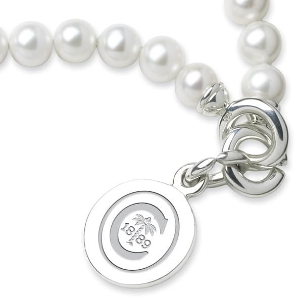 Clemson Pearl Bracelet with Sterling Silver Charm - Image 2