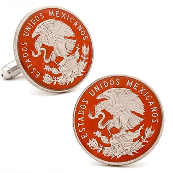 Hand Painted Mexican Coin Cufflinks - Image 2