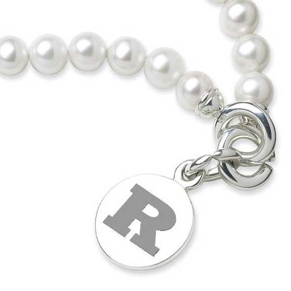 Rutgers University Pearl Bracelet with Sterling Silver Charm - Image 2