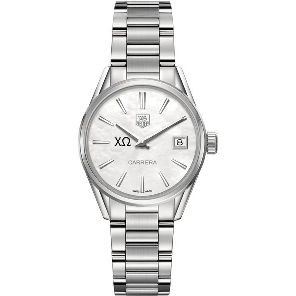 Chi Omega Women's TAG Heuer Steel Carrera with MOP Dial - Image 2