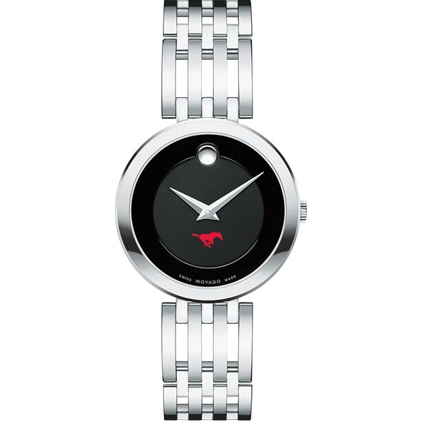 Southern Methodist University Women's Movado Esparanza Stainless Steel Museum with Bracelet - Image 2