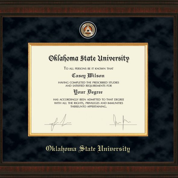 Oklahoma State University Diploma Frame - Excelsior - Image 2