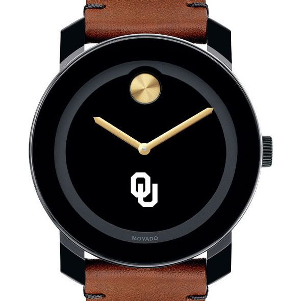 University of Oklahoma Men's Movado BOLD with Brown Leather Strap
