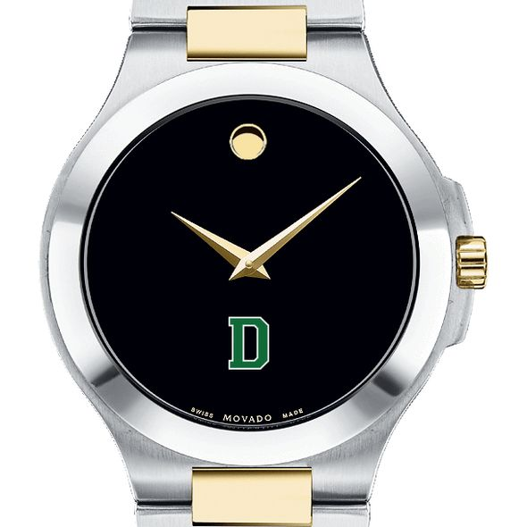 Dartmouth Men's Movado Collection Two-Tone Watch with Black Dial - Image 1