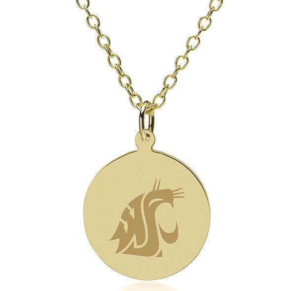 Washington State University 18K Gold Pendant & Chain