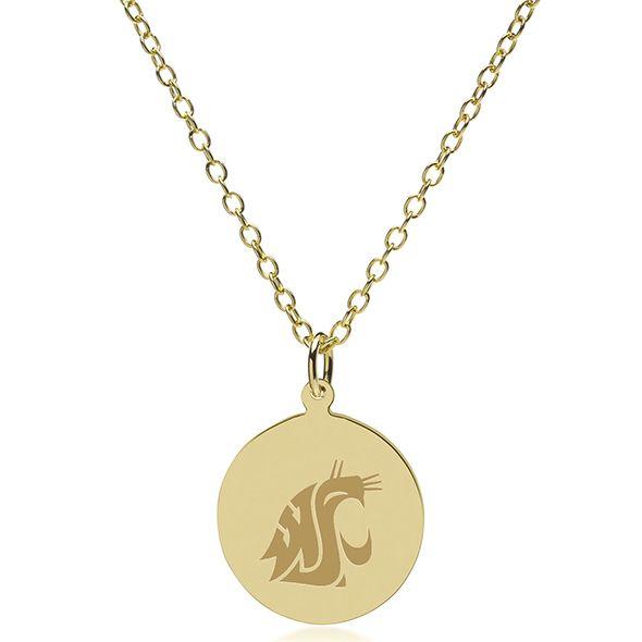 Washington State University 18K Gold Pendant & Chain - Image 2