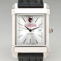 Carnegie Mellon University Men's Collegiate Watch with Leather Strap