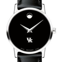 University of Kentucky Women's Movado Museum with Leather Strap