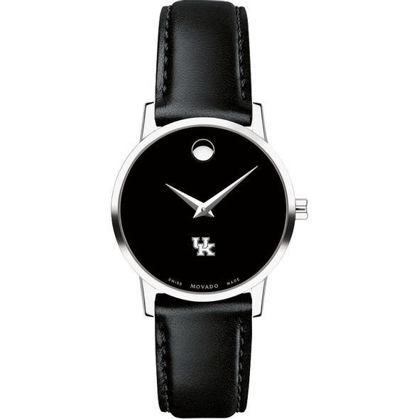 University of Kentucky Women's Movado Museum with Leather Strap - Image 2