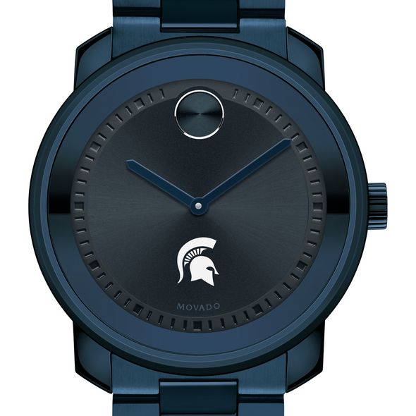 Michigan State University Men's Movado BOLD Blue Ion with Bracelet