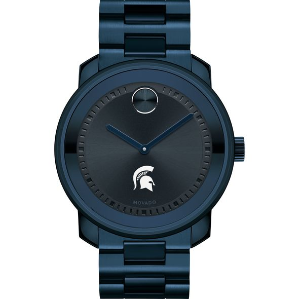 Michigan State University Men's Movado BOLD Blue Ion with Bracelet - Image 2