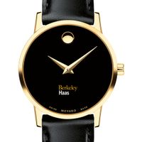 Berkeley Haas Women's Movado Gold Museum Classic Leather