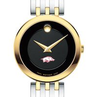 University of Arkansas Women's Movado Esparanza Two-Tone Museum with Bracelet