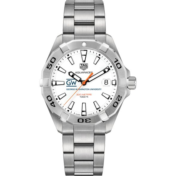 George Washington Men's TAG Heuer Steel Aquaracer - Image 2