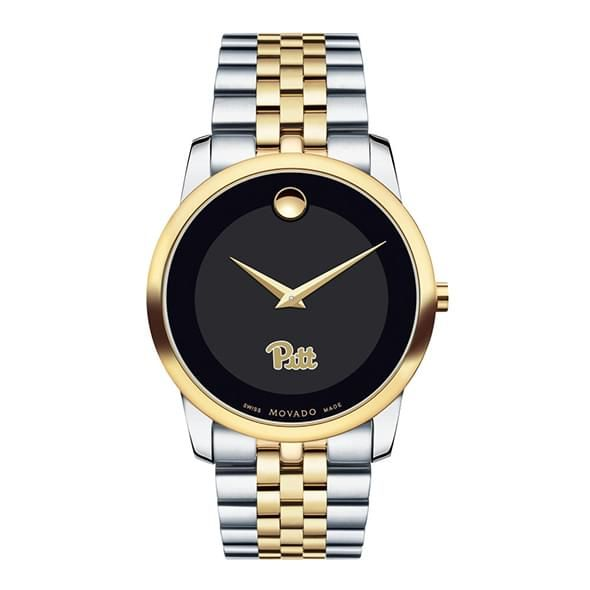 Pittsburgh Men's Movado Two-Tone Museum Classic Bracelet - Image 2