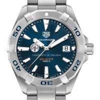 University of Virginia Men's TAG Heuer Steel Aquaracer with Blue Dial