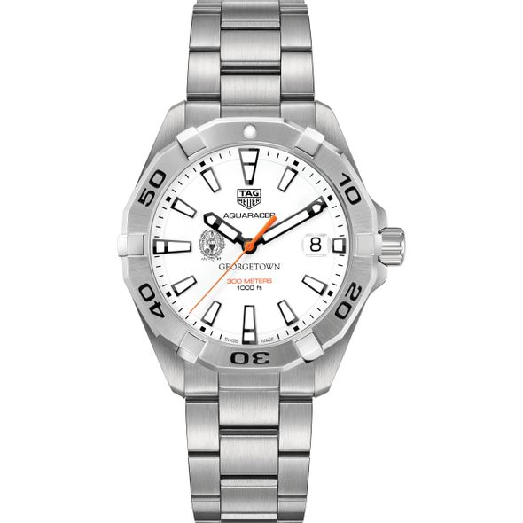 Georgetown University Men's TAG Heuer Steel Aquaracer - Image 2