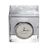 SC Johnson College Glass Desk Clock by Simon Pearce