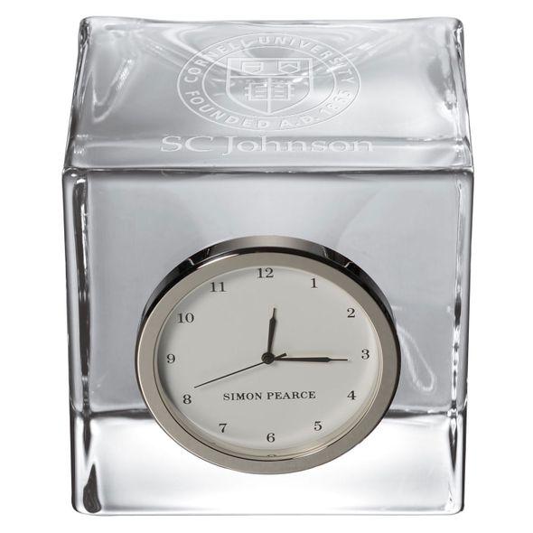 SC Johnson College Glass Desk Clock by Simon Pearce - Image 2