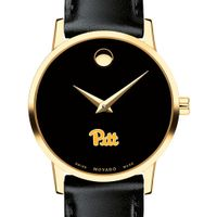 Pitt Women's Movado Gold Museum Classic Leather