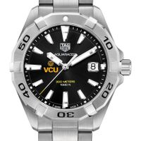 Virginia Commonwealth University Men's TAG Heuer Steel Aquaracer with Black Dial