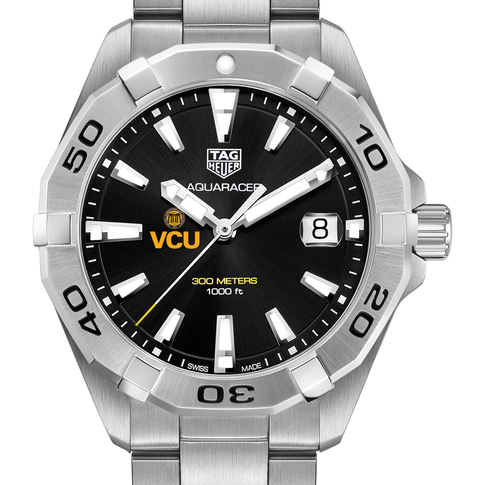 VCU Men's TAG Heuer Steel Aquaracer with Black Dial